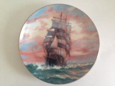 The Blue Jacket at Sunset By Charles Vickery vintage decorative plate numbered