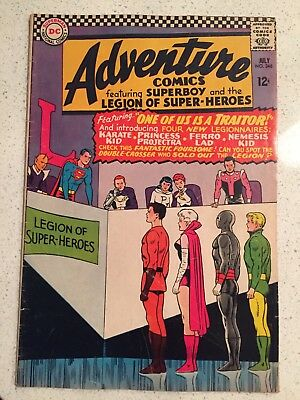 Adventure Comics #346 Silver Age DC Comic Book 1st Ferro Lad Karate Kid VG+