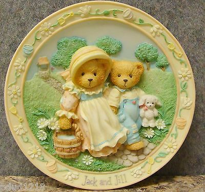 Cherished Teddies Jack & Jill Our Friendship Will Never Tumble Plate #114901