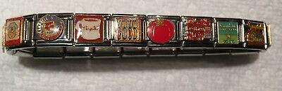 Rare,19 Link, Campbell's Soup Bracelet , extra links for sizing
