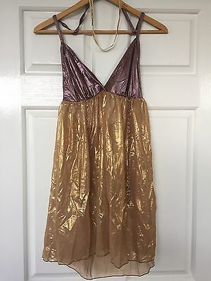 Girls Ladies Size S Contemporary/Modern/Ballet Gold and Purple Dance Costume
