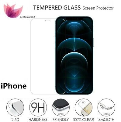 9H Premium Tempered Glass Screen Protector for iPhone X 8 8+ 7 7+ 6s 6s+ 6 5 Lot