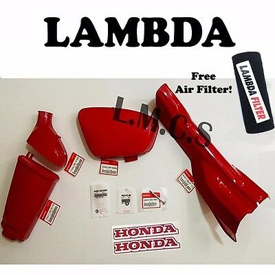 Honda CT110 12v Plastics Kit - Air Box Battery Cover Cowling Down Tube