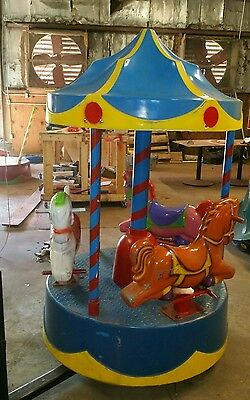 coin operated kiddie ride carousel