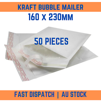 200P Kraft Bubble Padded Bag Mailer Envelope EXTERNAL SIZE 170mm x 230mm Plain