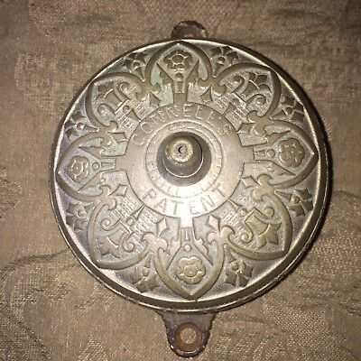 ANTIQUE VICTORIAN Connell's Fancy Pull-action  Door Bell PATENTED April 28 1874