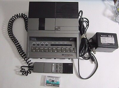 Dictaphone 3720 Micro Cassette Dictation Transcriber Pitney Bowes