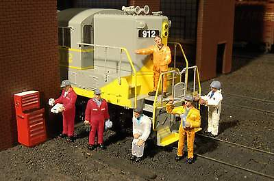 Bachmann® HO scale 6 x Train Mechanics +++ plastic figure set  Model trains HO