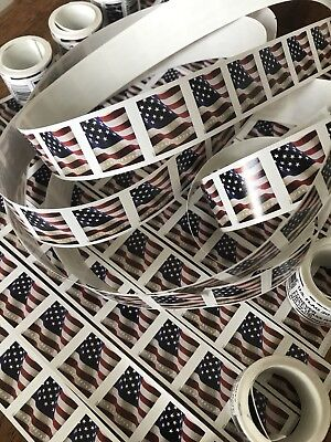 20 USPS Forever Stamps US Star Spangled Banner Flag Heart Postage Coil Sheet USA