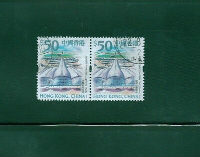 Hong Kong 1999 SC# 874 used pair $50.00 International Airport