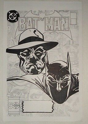 Batman 386 . Original Art Cover Re-Creation .by Jesse Hansen . 11X17