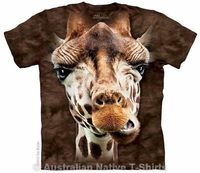 Giraffe Face T-Shirt in Adult Sizes - African Animals by The Mountain T-Shirts
