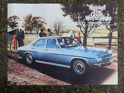 Holden Hq Premier Sales Brochure 100% Guarantee.