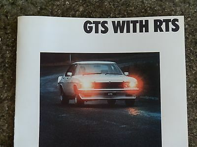 Holden 1977 Hz Gts (Monaro) Sales  Brochure  100% Guarantee.