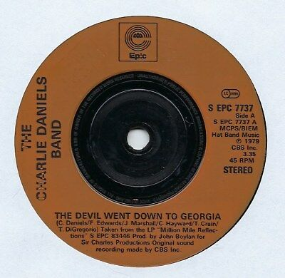 "The Charlie Daniels Band - The Devil Went Down To Georgia - 7"" Single"