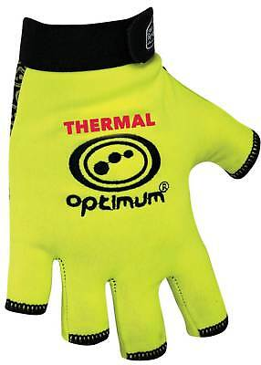 Optimum Rugby Sports Stik Mitts Thermal Fluo Fingerless Gloves Yellow Xl
