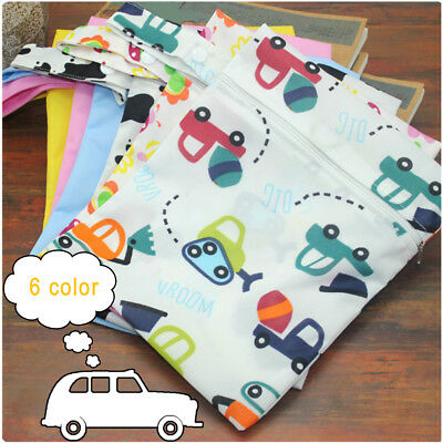 Baby Infant Waterproof Reusable Zip Wet Dry Bags Cloth Diaper Nappy Pouch Pocket