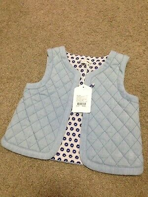 Country Road Baby Girls Chambray Quilted Vest Size 18-24M BNWT