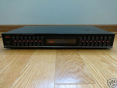 Fisher EQ-867 7-band Stereo Graphic Equalizer 1986 Japan TESTED 100% Works Great