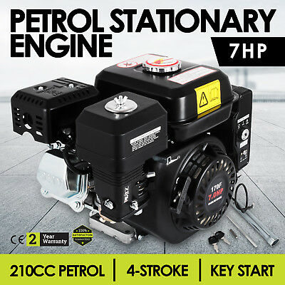 7 HP Petrol Engine 4 Stroke Horizontal Shaft Recoil Start OHV Stationary Eng