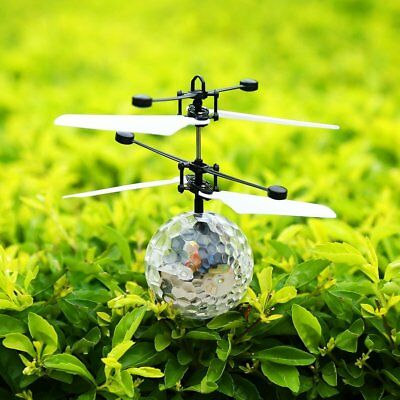 Infrared Induction Flying Flash Disco Colorful LED Ball Helicopter Kids Toy G4