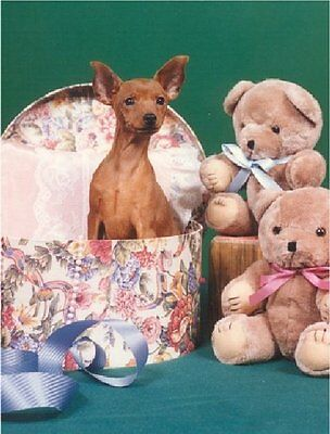 MINIATURE PINSCHER Red Natural Canvas Tote Bags  #1022