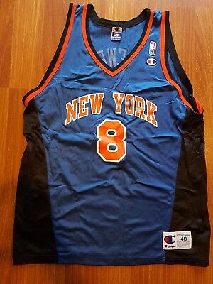 New York Knicks XL Champion 48 Vintage Latrell Sprewell Jersey