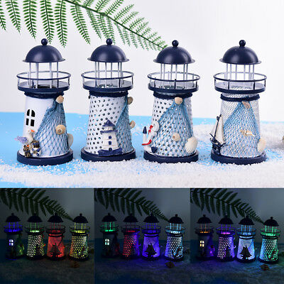 LED light metal lighthouse anchor mediterranean decorative home nautical decor