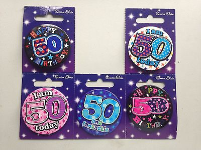 Age 50 Birthday Badge  For Male Or Female