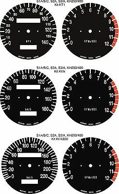 Kawasaki Triple S1 S2 S3 Kh H1 H2 Speedo Tacho Dial Gauge Face Overlays Clocks
