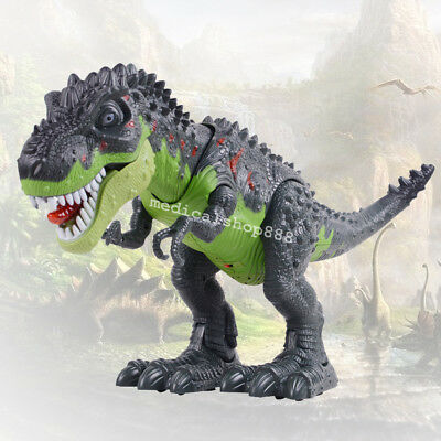 Walking Dinosaur Children Toy Figure Electric With Sounds Lights Real Movement