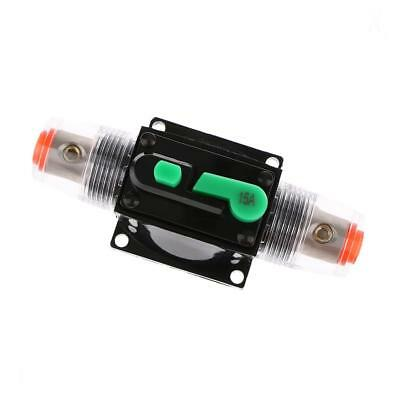 15Amp In Line Circuit Breaker Stereo Audio Car RV Fuse Holder 12V/24V/32V