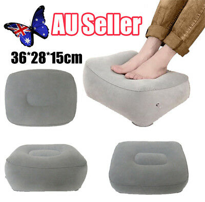 Inflatable Travel Foot Rest Footrest Pillow Helps Reduce DVT on Flights Risk HOT