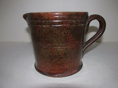 Antique Redware Creamer or Pitcher, 19th century American, Earthenware