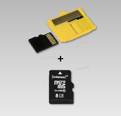 8 GB XD Picture Card Speicherkarte xd Adapter + Micro SD  xd Karte 8GB Classe 10