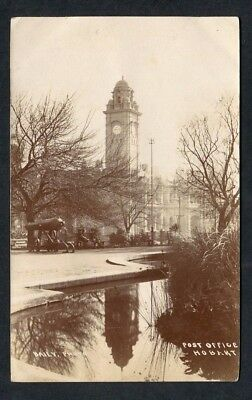 Photo Postcard By Baily Post Office Hobart With Reflection Stamp 1906? Tasmania