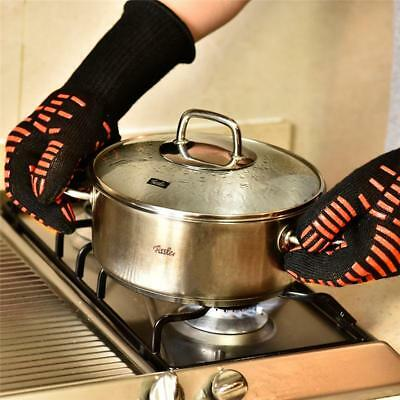 1 PC Heat Resistant Oven Mitts Kitchen Heatproof BBQ Grill Protective Gloves