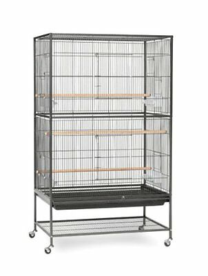Prevue Pet Products Wrought Iron Flight Cage With Stand F040 Black Bird Cage, By