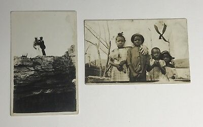 PAIR of Antique U.S. Navy Colored Seamen Real Photo Postcards