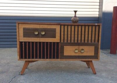 MID CENTURY PYE Radiogram RETRO SIDEBOARD Vintage BUFFET Turntable. Project