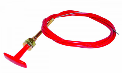 T Handle Pull Cable - 6ft Long - Ideal For Cut Off Switches & Extinguishers