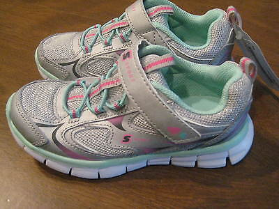 New S SPORT by Skechers Washbubbles Athletic Sneakers Toddler Girls Size 11