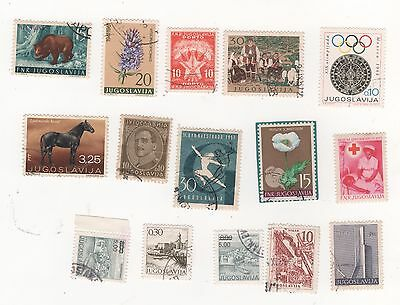 YUGOSLAVIA Small selection of stamps pictured Mint & Used & CTO mixed condition