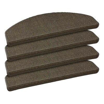 Set of 15 Sisal stair tread mats staircase stair cover lava grey 22x56cm (3,66£/