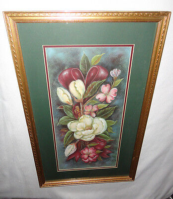 Home Interiors '' White & Pink Magnolia '' Picture Gorgeous  16.5x 26.5''