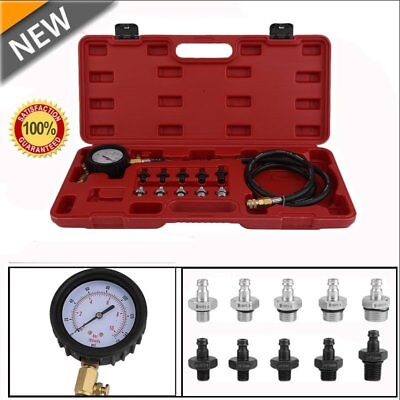 13PC Deluxe Automatic Transmission & Engine Oil Pressure Tester Case 140psi I5