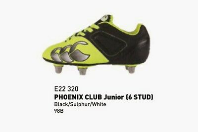 Canterbury Boys Phoenix Club 6 Stud Rugby Boots Size 4 Rrp £35 Only 2 Left