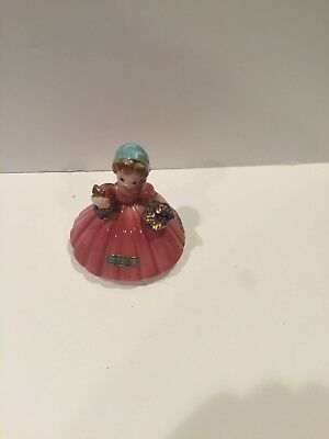 Josef Originals ITALY Girl Figurine With Foil Tags Little International Series