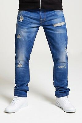 Mens Slim Fit Stretch Jeans In Dark & Mid Wash (Nemesis) Rrp £44.99 Clearance!!!