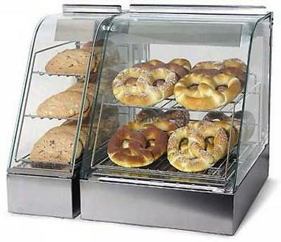 Wisco 323HH Food Warming Heated Merchandising Cabinet 2 Tier 15in Wide